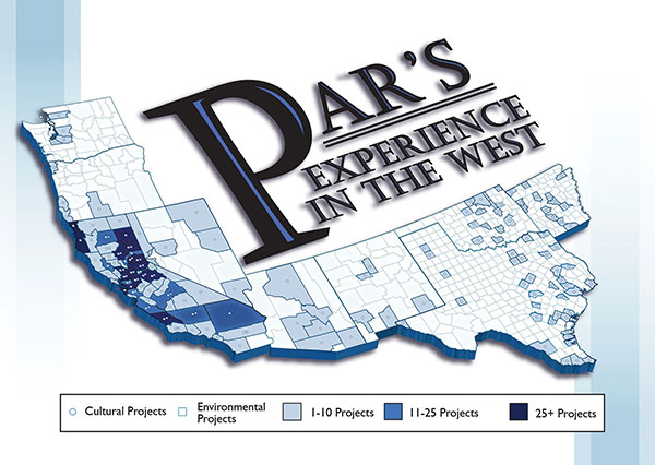 Map of PAR's experience in the West